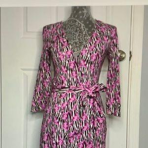Diane von Furstenberg Jersey Wrap Dress SZ 4